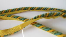 Green,Turquoise & Gold Upholstery flanged cord (sold by the mtr) 10 mm. wide