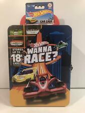 Hot Wheels Holds 18 Cars Tin Carry Case Wanna Race New