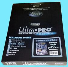 100 ULTRA PRO PLATINUM 8-POCKET Pages Protector Vintage Bowman Card Coupon Sheet