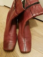 Clarks Shoes Size UK 5 red Leather Ankle boots condition used