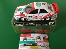 TOMICA 104-3 MITSUBISHI LANCER EVO.IV WRC 97 N1 Castrol 1/59 Made in Japan NEW