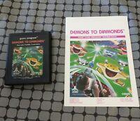 atari cx2615 game program demons to diamonds with instruction manual