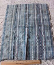 Antique 18thC Woven French Blue Silk Ikat Fabric c1770-80~Dolls,Apparel,Ho me