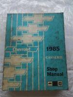 1985 Cavalier Chevrolet ST36685 Chevy GM Shop Service Manual