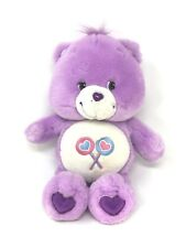 """Interactive Care Bears Share Bear Talking Plush 2003 13"""" Tall Tested Works!"""