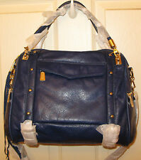 NWT Rebecca Minkoff Large Cupid Satchel, $425, Navy