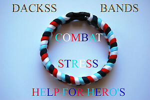 Combat Stress Paracord WristBand Bracelet 10% Donation to Help For Heroes Forces
