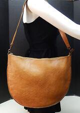 DKNY Carmel Brown Genuine Leather Crossbody Messenger Shoulder Bag Handbag Purse