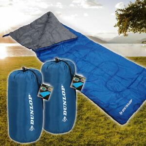 2 Schlafsäcke DUNLOP Deckenschlafsack Leicht Kompakt Sommer Comfort Ultra Leicht