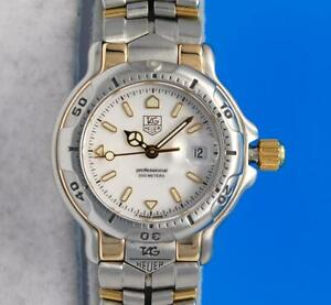 Ladies Tag Heuer 6000 18K Gold & SS 200M Watch - White Dial - WH1351