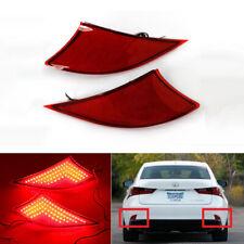 2x LED Lens Rear Bumper Reflector Brake Light For Lexus IS250 IS350 XE30 2014+