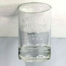 Bulleit Bourbon Frontier Whiskey Glass Embossed Oval Shape 5.5oz 2cl 4cl Markers