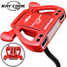 "RAY COOK SR-500 RED 34"" MALLET PUTTER +HEADCOVER & MIDSIZE GRIP / NEW FOR 2019"