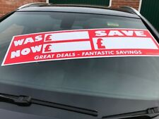 Car For Sale Sticker X 25 Was Now  Windscreen display Sticker Self Adhesive