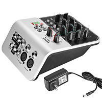 Neewer NW02-1A 4-Channel Economy Mixing Console for Condenser Microphone