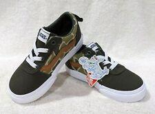 Vans Toddler Boy's Ward Frog Camo Green/Brown Slip On Skate Shoes - Size 8 NWB