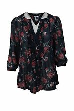 Blouse Viscose V Neck Floral Tops & Shirts for Women