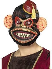 Zombie Toy Monkey Mask with Fur Adult Mens Gory Halloween Fancy Dress Accessory