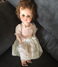 Vintage 1950's Amer Char Baby Sue Rubber Doll Rooted Hair-doll Dress