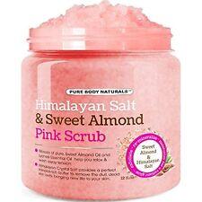 Body Scrub Himalayan Salt Deep Cleansing w/Sweet Almond Oil Moisturize Body Wash