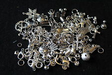 Mixed silver charms and findings - novelty charms - jewellery making
