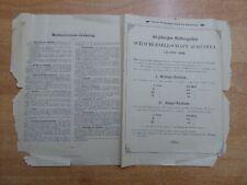 Programm 40 jähriges Stiftungsfest Schachgesellschaft Augustea Leipzig 1888