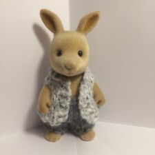 Sylvanian families clothes ~ knitted White/Grey Waist Coat + Grey Pants Adult