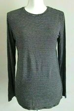 Athleta Womens Stripe Long Sleeve Shirt Top Slits Active Running Size M