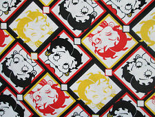 BETTY BOOP CHECKED FACES COLORS COTTON FABRIC FQ