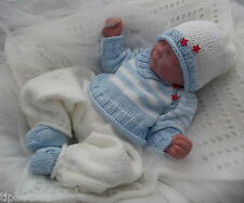 DK Baby Knitting Pattern #46 TO KNIT Boys or Reborn Dolls Clothes