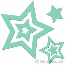 36 MINT GREEN STAR STICKERS car wall art decals graphics nursery bedroom window