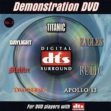 New! DTS 5.1 Demo #3 Genuine DVD Very Rare OOP