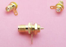 5x SMA Female Jack Panel Mount with nut bulkhead handle Solder RF Coax Connector