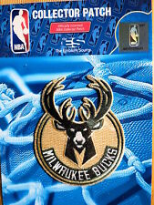 "Official NBA Milwaukee Bucks Primary Logo Iron or Sew On Patch Sm 2 1/2"" by 3"""