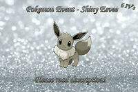 Shiny Eevee Event 6IV - Pokemon X/Y OR/AS S/M US/UM Sword/Shield