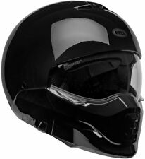 Bell Broozer Solid GLOSS BLACK Motorcycle Helmet LARGE