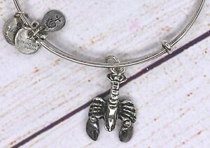 Alex and Ani Lobster Charm Silver Bracelet