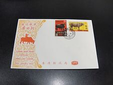 CHINA Hong Kong 1973 Sc#273-74 Year of the Ox First Day Cover Unaddress