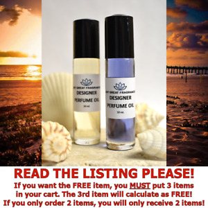 WOMENS DESIGNER FRAGRANCE PERFUME OIL Types YOU PICK SIZE / SCENT : PURE & UNCUT