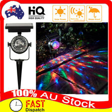 Solar Laser Lamp LED Projector Light Rotating Colorful Party Xmas Indoor/OutdoHW