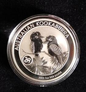 10 Stück Silbermünzen Australian Kookaburra 1 oz mit Schlange Privy 2013