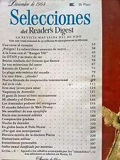 Revista Selecciones del Reader´s Digest vintage - dic 1964 España - publicidad