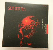 SEPULTURA Beneath The Remains Original VTG Square Badge 40mm (not patch)MA021
