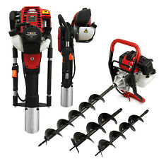 More details for petrol earth auger & post driver set hole fence knocker drill jack hammer borer