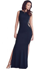 Elegant Slim Party Maxi Evening Dress Dark Blue