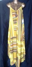 Yellow Asymmetrical Maxi Dress Hanky Hem Sundress New Size 20