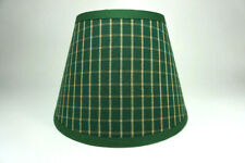 Country Primitive Green Plaid Window Pane Homespun Fabric Lampshade Lamp Shade