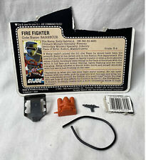 New listing Vintage 1985 G.I. Joe Barbecue Weapon, Accessories & File Card - No Figure