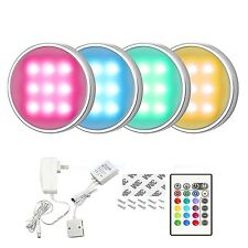 RGB LED Kitchen Under Cabinet Lighting Kit Multicolor Wall Lamps Remote Control