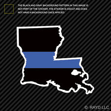 Louisiana State Shaped The Thin Blue Line Sticker Self Adhesive police LA
